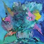 Из цикла Цветы-6 - 90х90 - холст масло - 2013