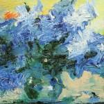 """Из цикла """"Цветы""""-11 - 50х100 - холст масло - 2013"""