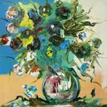 """Из цикла """"Цветы""""-5 - 80х80 - холст масло - 2013"""