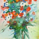 """Из цикла """"Цветы""""-8 - 100х60 - холст масло - 2013"""